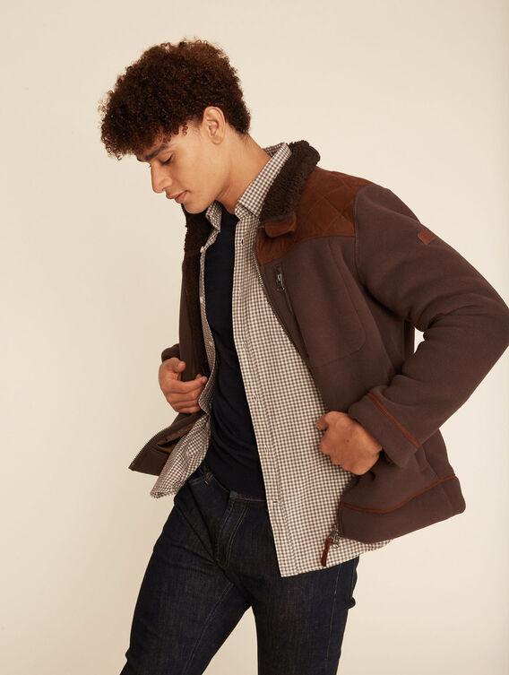 Fleece-Jacke im Jagd-Stil