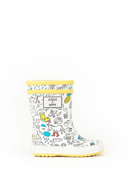 Children's Aigle x OMY colouring boots