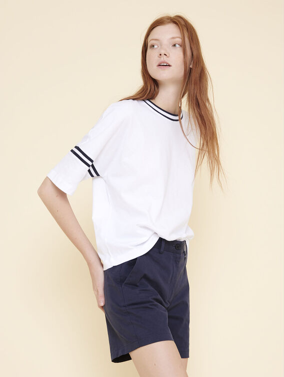 Oversized short-sleeved T-shirt