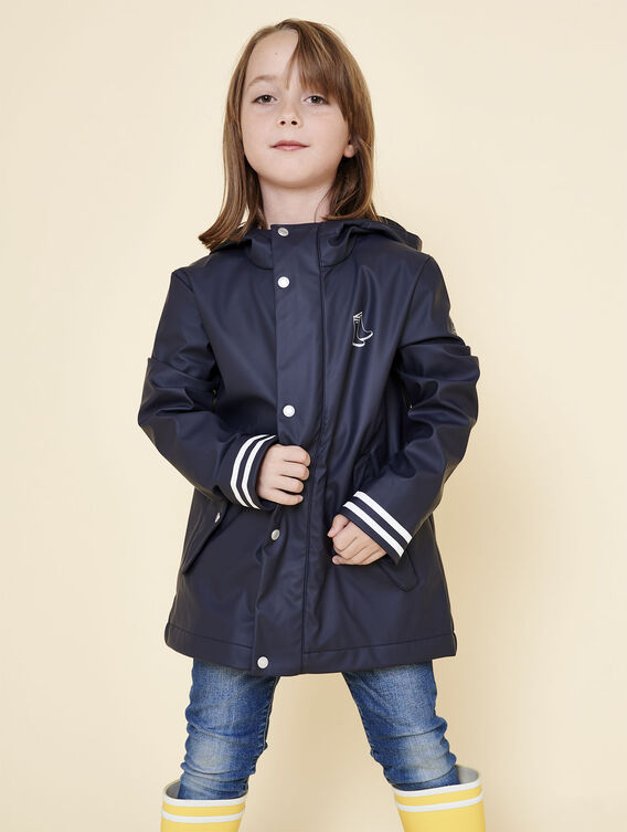 Waxed children's parka