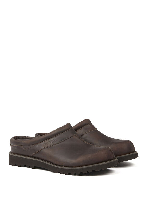 Men's leather clogs