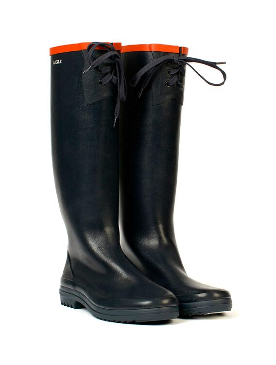 Women's packable rubber boots