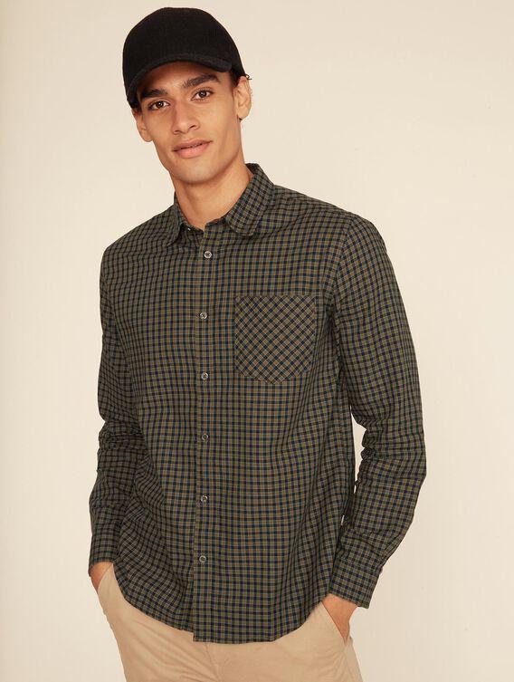 Chemise légère à carreaux