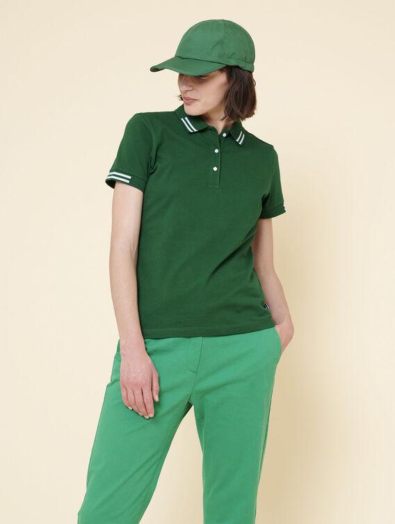 Women's plain cotton polo shirt