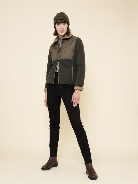 Fleece-Jacke im Country-Stil