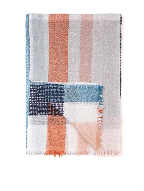 Écharpe imprimée en laine femme