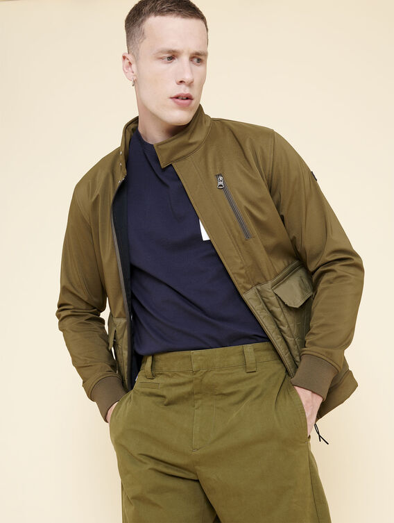 Mixed-fabric technical jacket