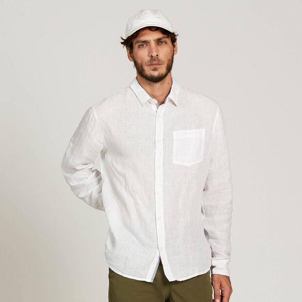 Long-sleeved linen shirt