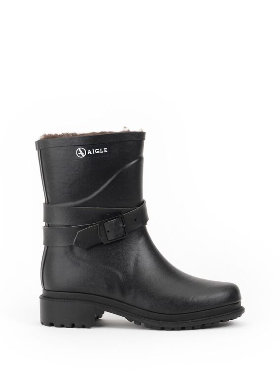 Women's fur-lined urban ankle boots