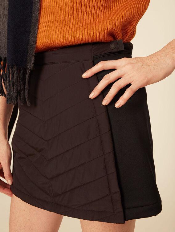 High-tech mixed fabric skirt