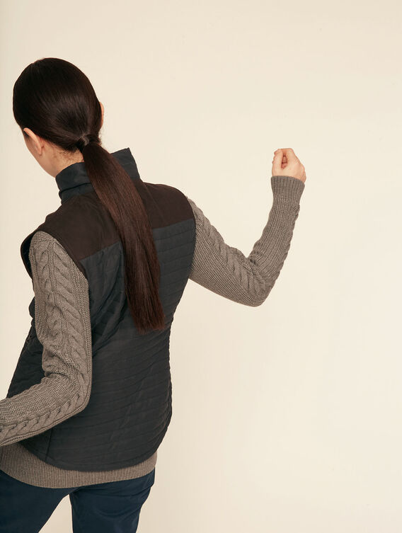 Hunting-inspired padded bodywarmer