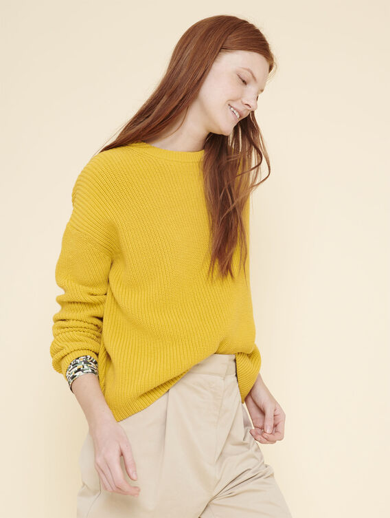 Chunky knit cotton jumper