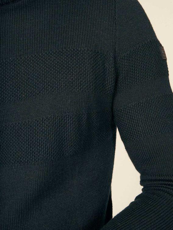 Karierter Pullover mit Stehkragen