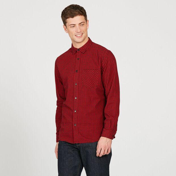 Chemise à carreaux effet vichy