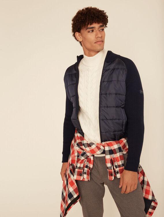 Merino wool jumper jacket