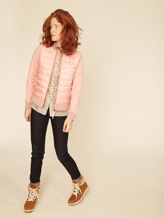 Hybrid fleece quilted jacket