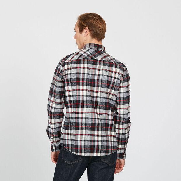 Chemise à carreaux en sergé