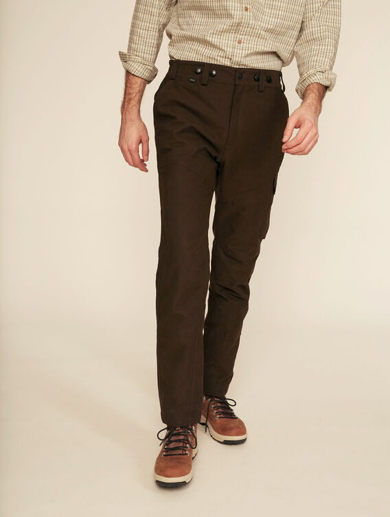 Silent flexible hunting trousers