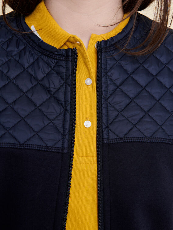Insulating fleece cardigan