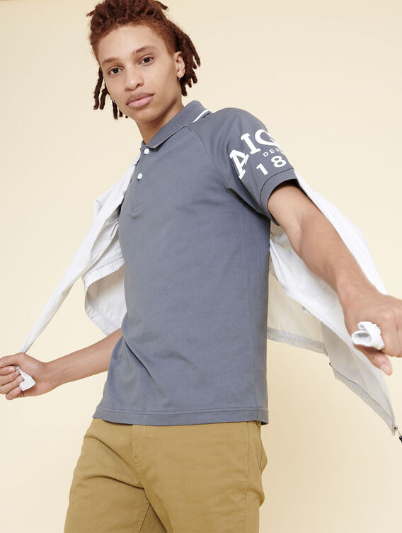 UV-resistant technical polo shirt