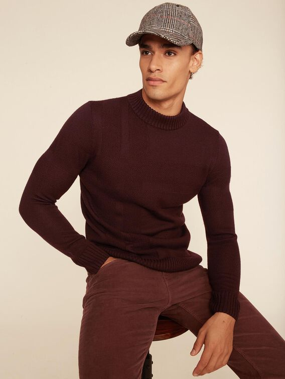 Stand-up collar check jumper