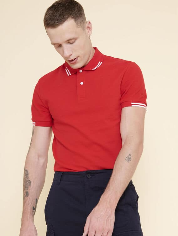 Thermo-regulating cotton polo shirt