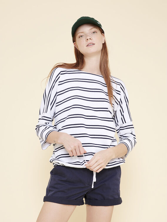 Drawstring sailor's top