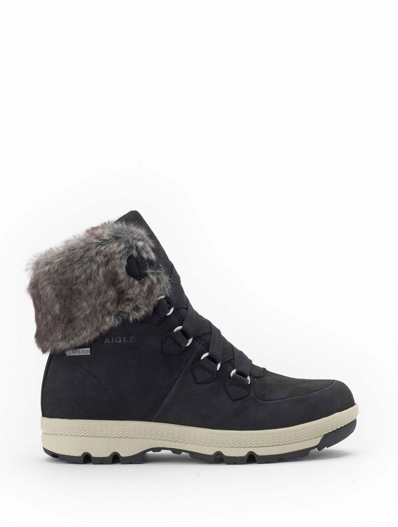 Women's warm fur-lined shoes