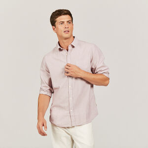 Chemise oxford à fines rayures