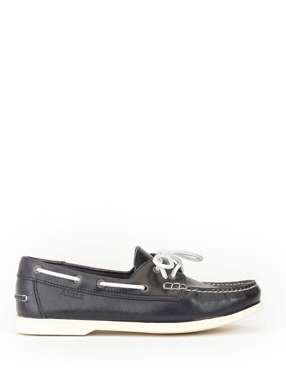 Chaussures bateau cuir Femme