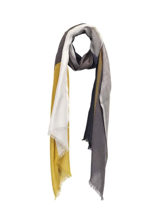 Wool and rayon scarf