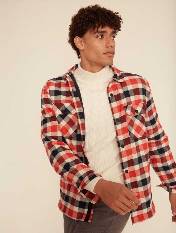 Gefüttertes Fleece-Hemd zum Überziehen
