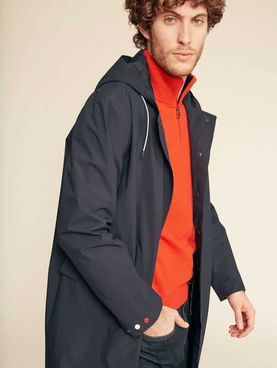 Long lightweight waterproof jacket