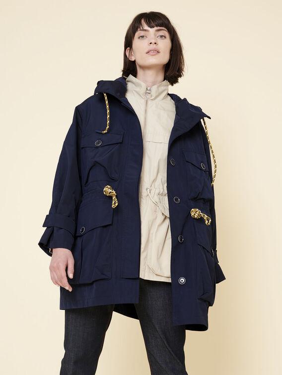 Waterproof oversized jacket