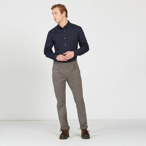 Chemise ajustée de coton stretch
