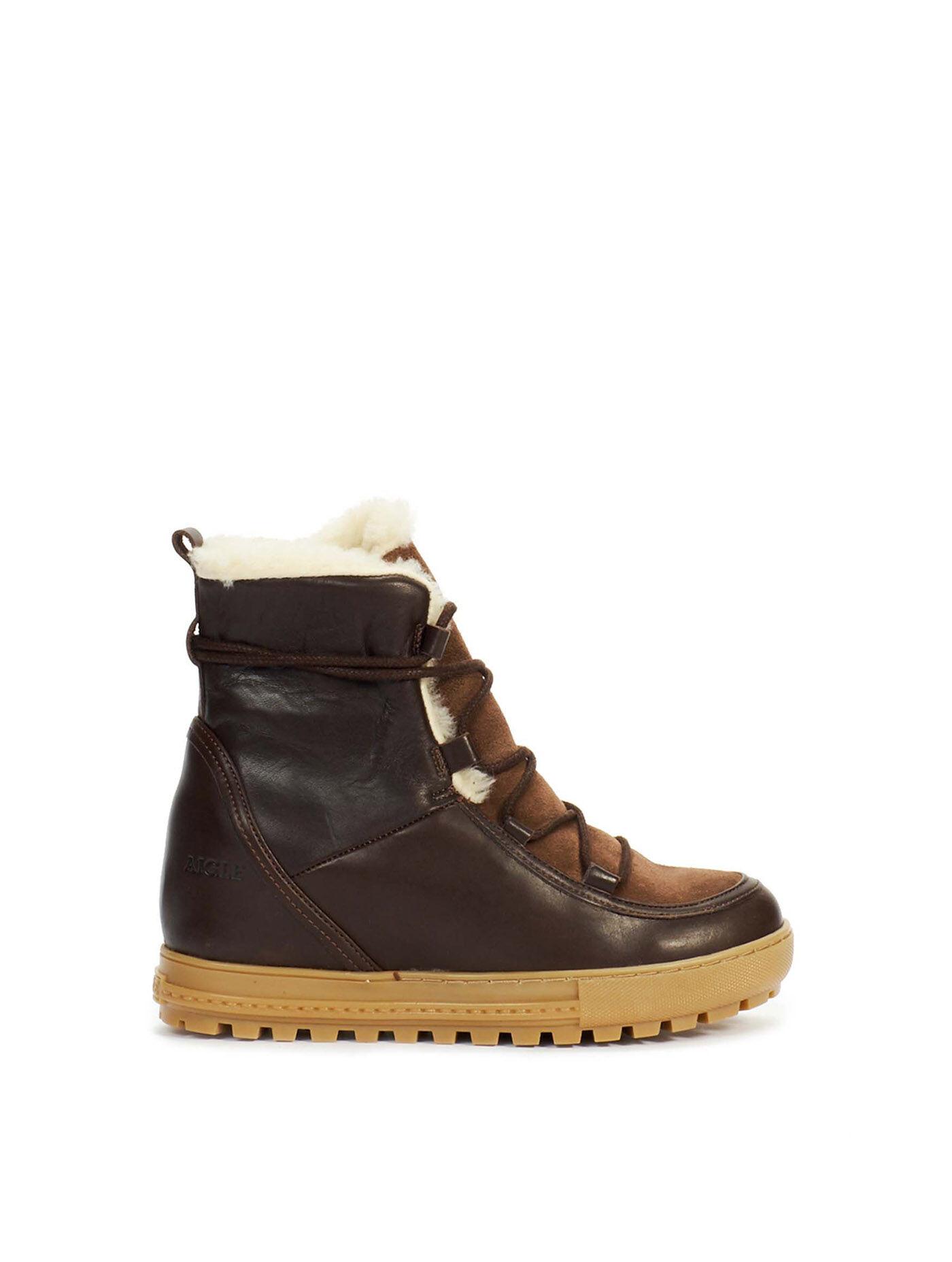 Chaussures en croûte de cuir à double scratch