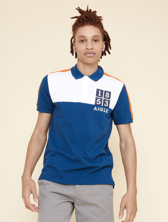 Nautical-inspired polo shirt