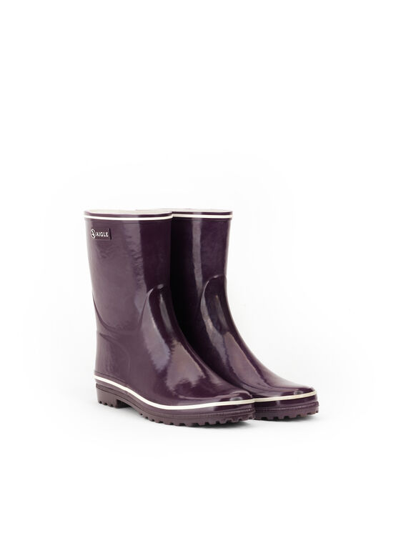 Women's glossy rubber ankle boots