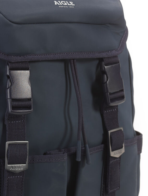 Rubber-effect backpack