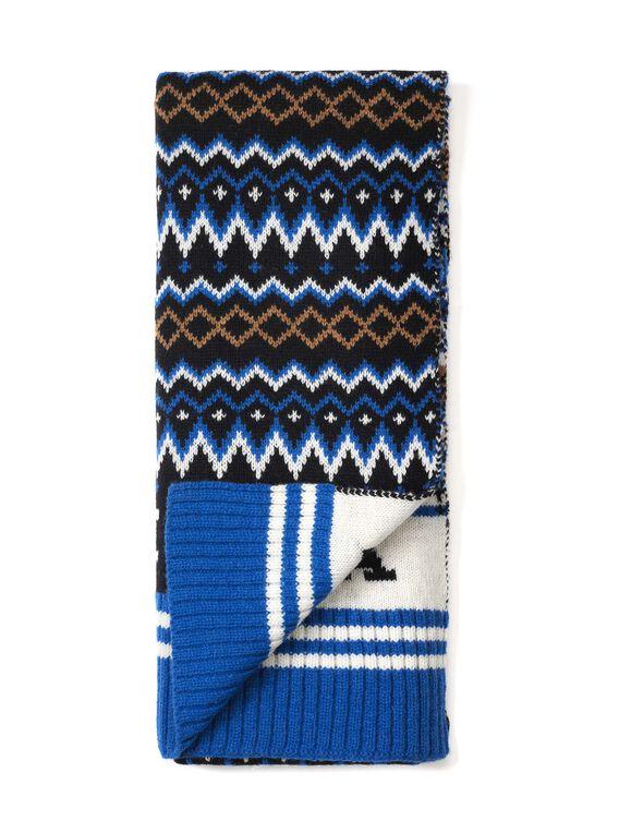 Men's ski-style scarf