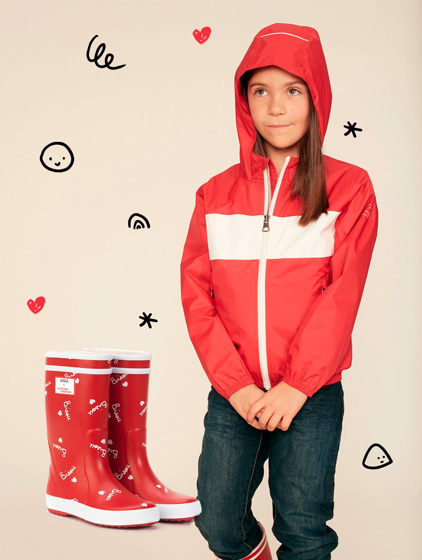 huge discount 3160b 4e700 Windjacke und Stiefel 100% Bisou für die Kleinen | Aigle