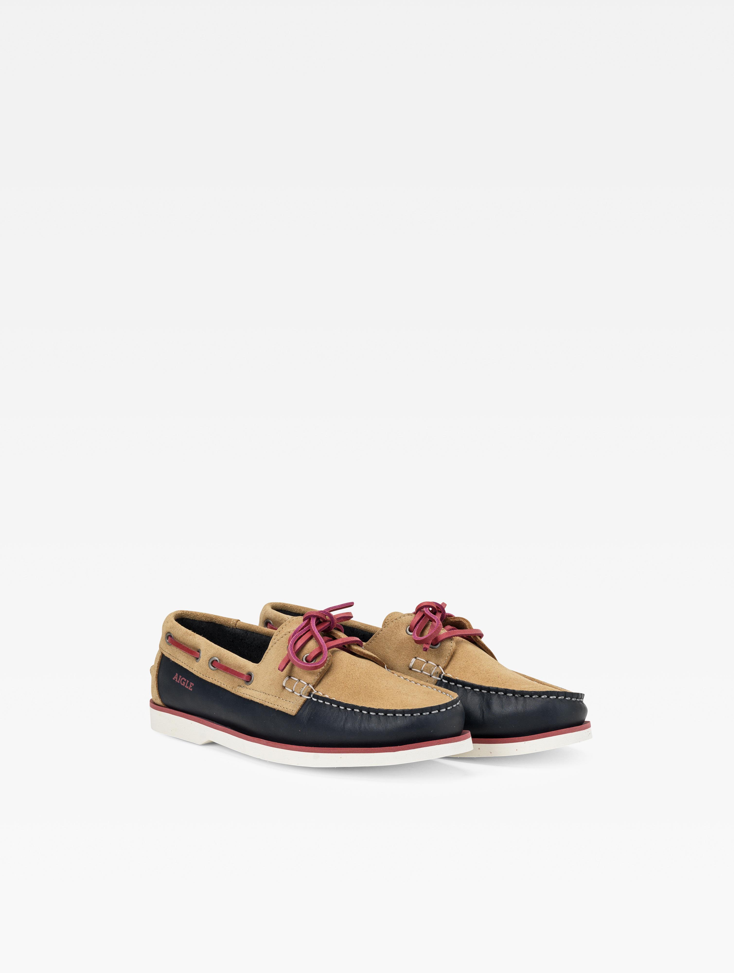 Chaussure bateau en cuir femme - Nubila