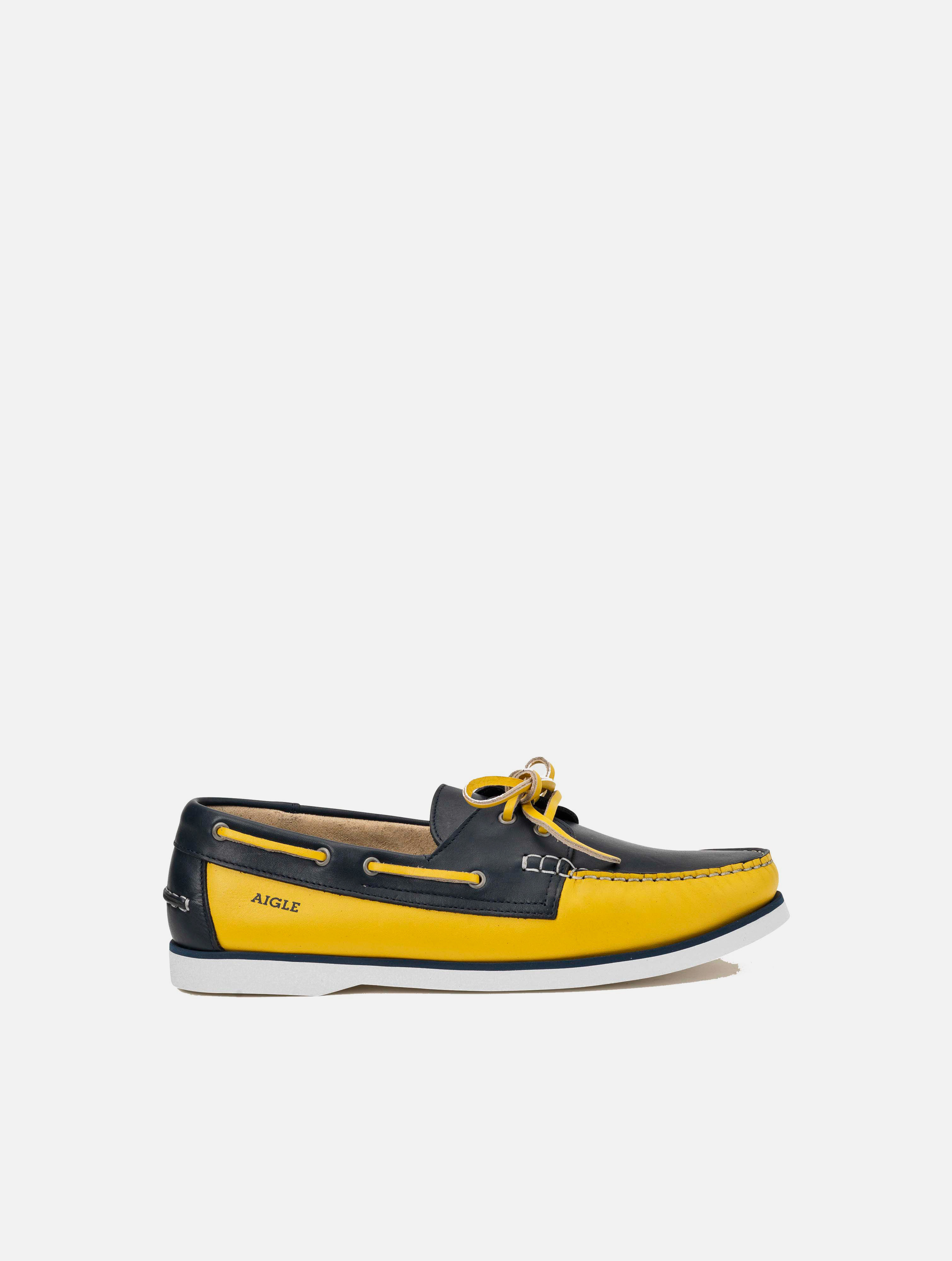 Chaussure bateau en cuir homme - Nubil