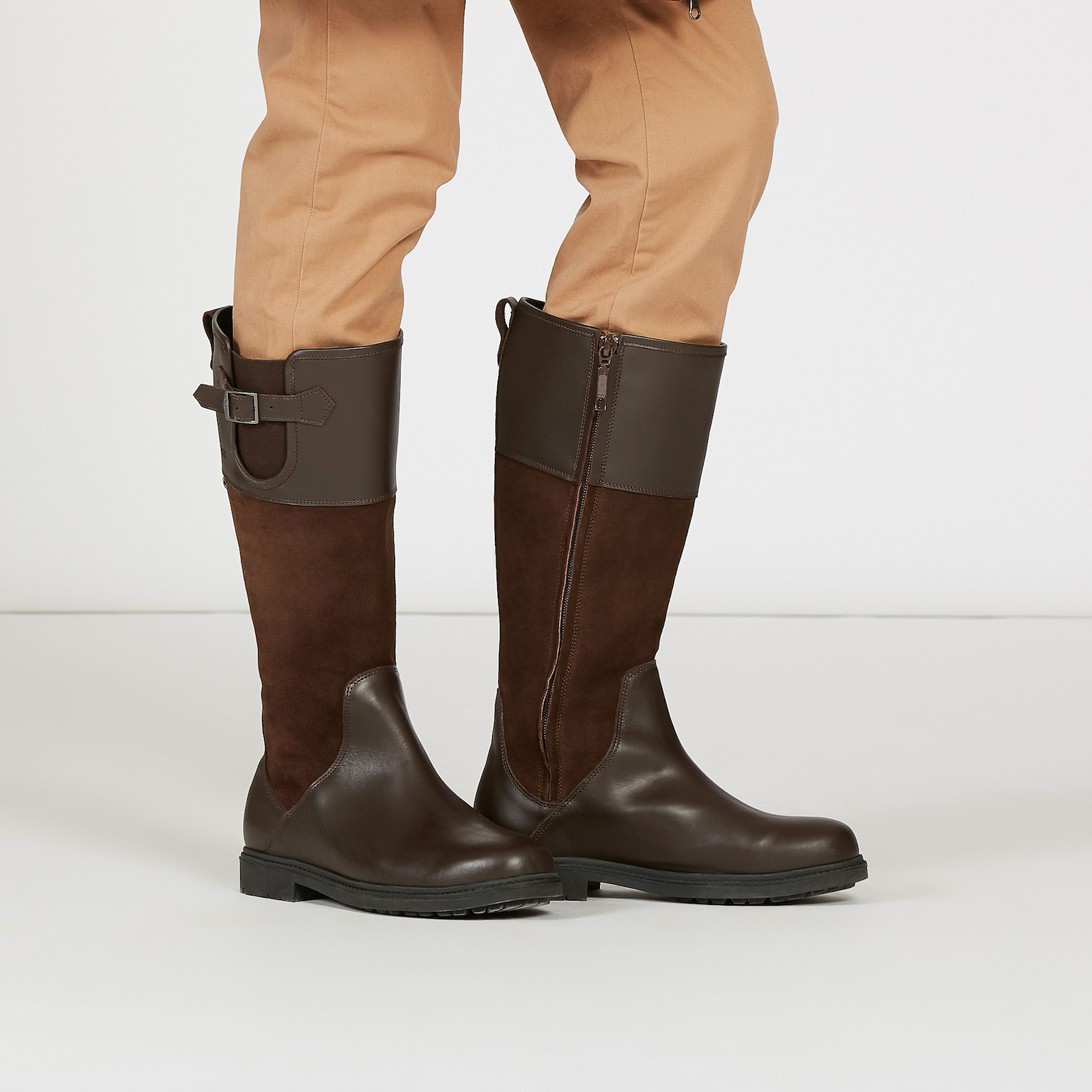 botte chasse aigle cuir