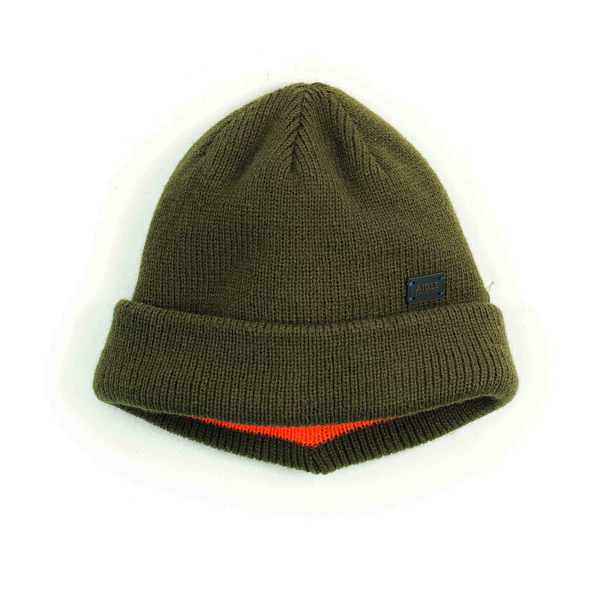 b12d2f462eb DONZY | Reversible hunting beanie Bronze/fluo | Aigle | AIGLE