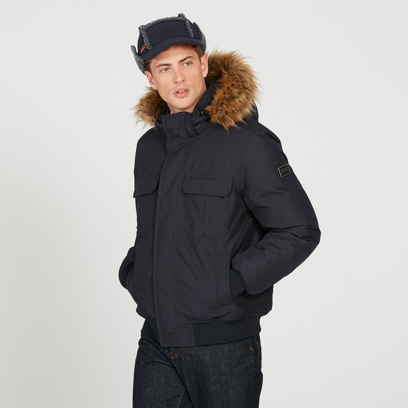 9d5506f0c2a0 Waterproof and breathable down jacket men