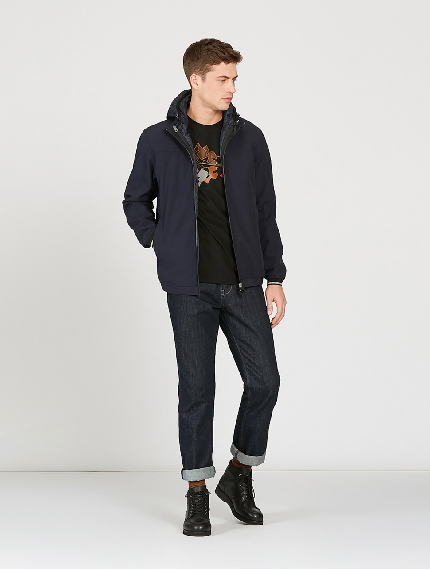 buy online d9ffd 44537 GLENTON | 3-in-1 Softshell-Jacke Herren Dark navy ...